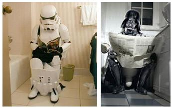 Star wars toilet humour