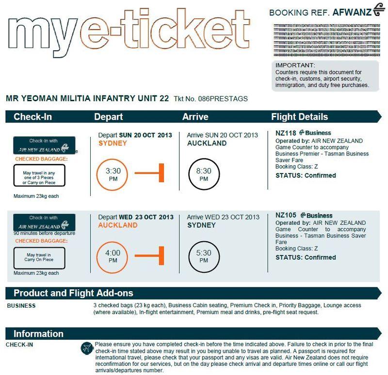 MI 22 Air Ticket
