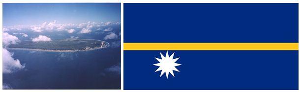 Nauru Island and Flag
