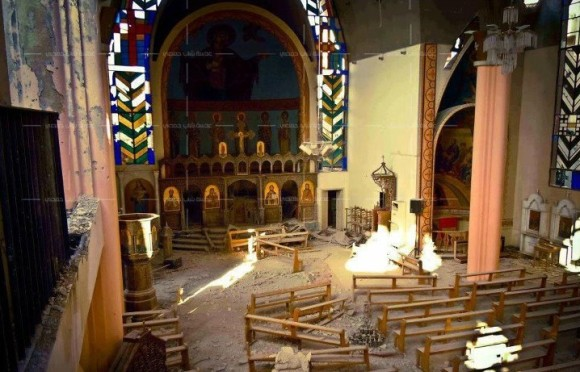 Destroyed Christian Church Syria