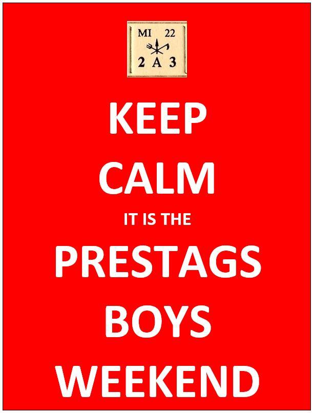 Keep Calm PRESTAGS Boys Weekend