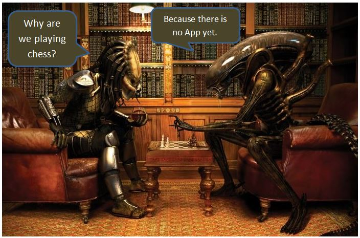 Alien predator chess app