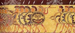 Hoplites on pottery