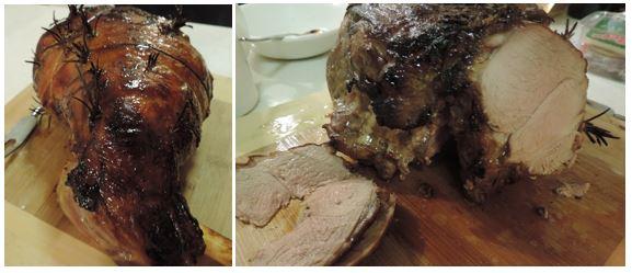 Roast Lamb and roast lamb slicedjpg