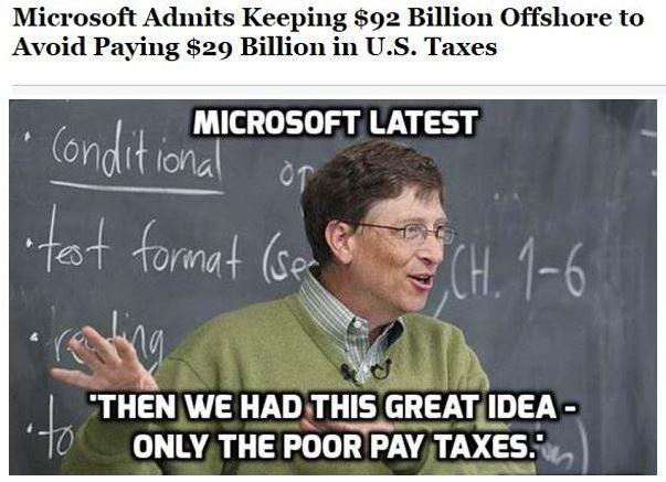 Microsoft Pays No Taxes