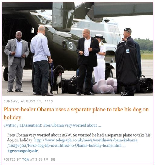 Obama Climate Change Hypocrite