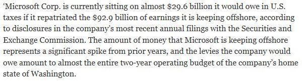 Microsoft pays no taxes sux