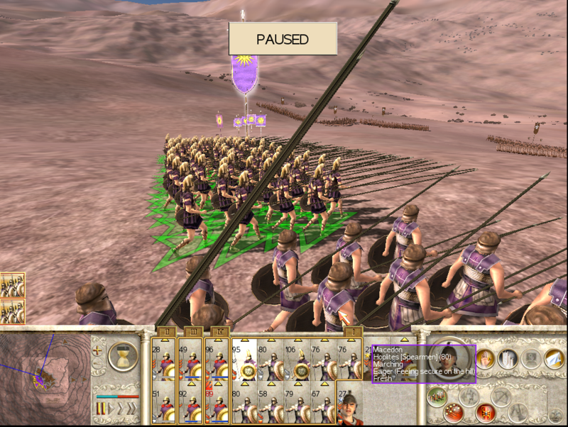 Advancing in Phalanx formation