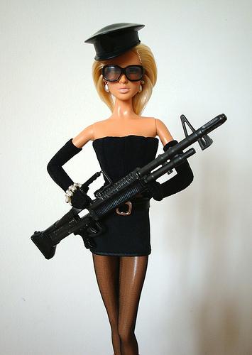 Barbie doll soldier
