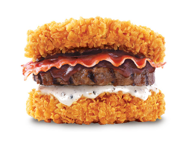 Kfc-korea-double-down-with-burger-patty