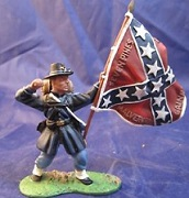 Confederate flag toy soldier