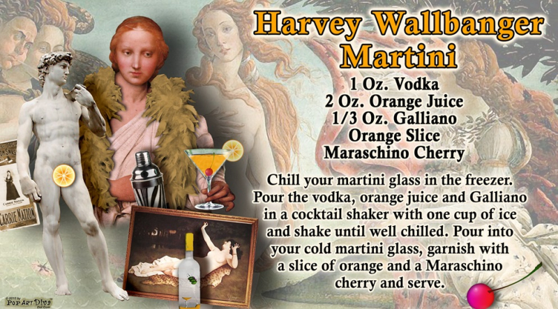 Harvey Wallbanger Martini