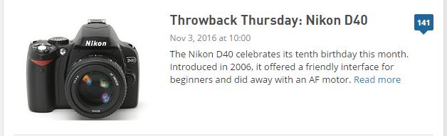 Throwback D40