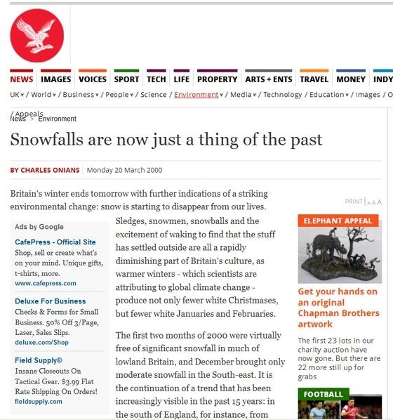 Snowthingofthepast
