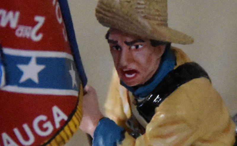 Confederate Flag Bearer Toy Soldier Close Up