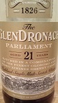 GlenDronach Parliament 21 Years Label