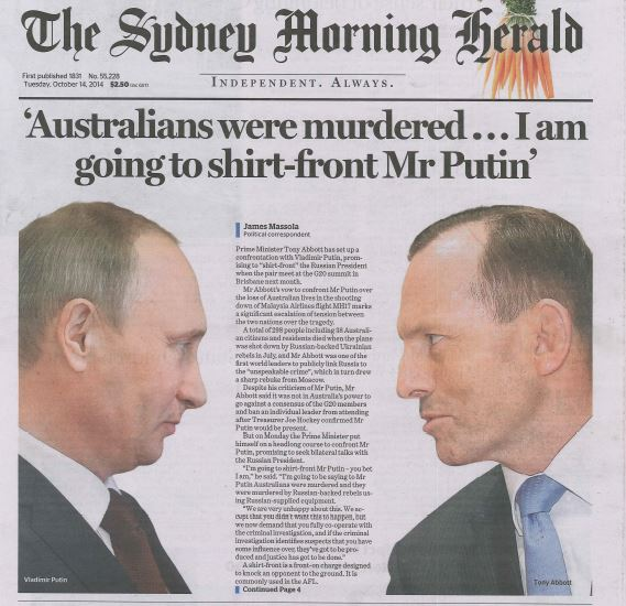 SMH Front Page 14Oct14