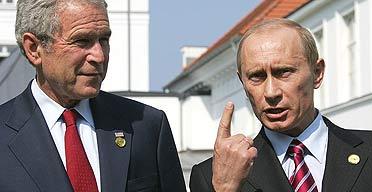 Putin and bush