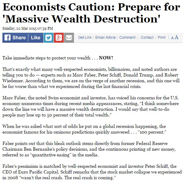 Economists' Warning