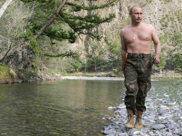 Vladimir putin man walk