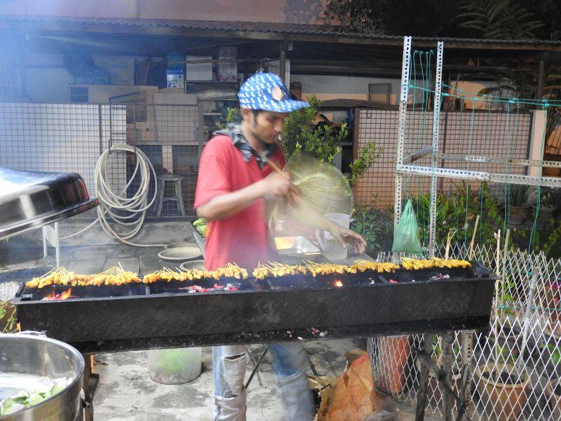 Satay maker fan