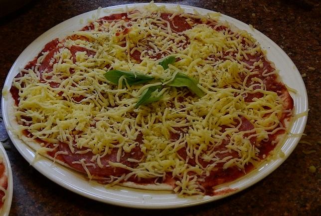 Pizza ready to go