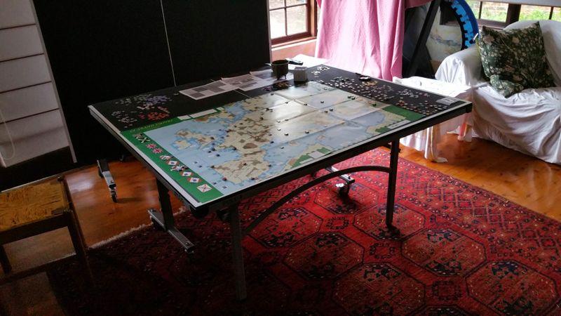 Napoleon on ping pong table
