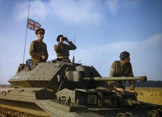 The_Commander-in-Chief_Home_Forces,_General_Sir_Bernard_Paget,_in_the_turret_of_a_Crusader_tank_of_42nd_Armoured_Division_during_a_large-scale_exercise_near_Malton_in_Yorkshire,_29_September_1942._TR142