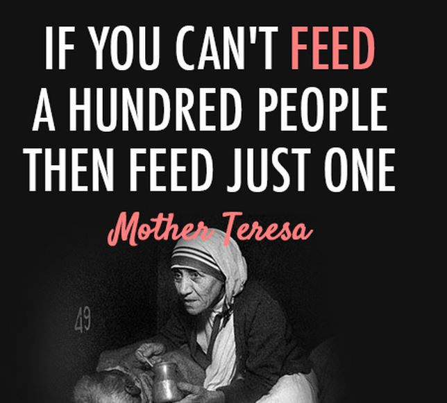 Small Things Feed One Person