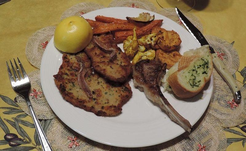 Wiener Schnitzel with Lemon & Anchovies