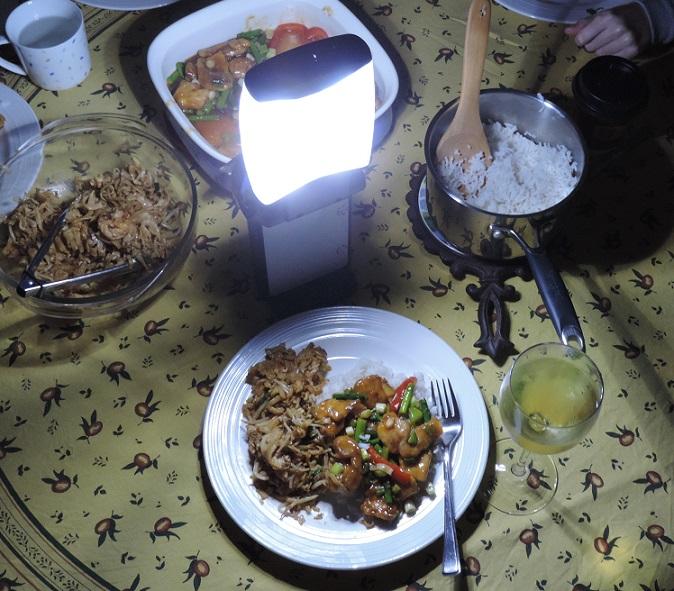 Dinner by Lantern