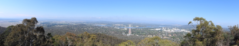 Panorama View of Canberra