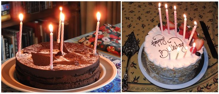 Two Birthday Cakes