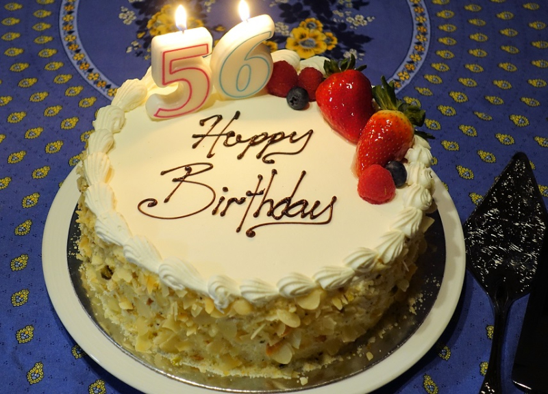 Birthday Cake Age 56