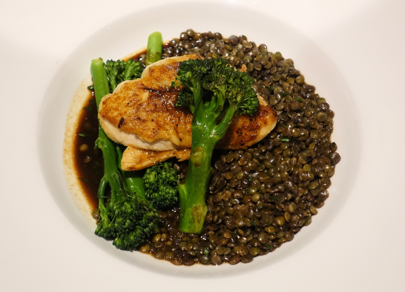 Chicken Broccoli Lentils