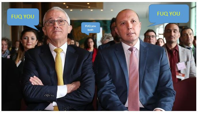 Malcolm Turnbull Peter Dutton Leadership Challenge