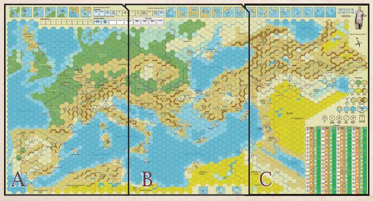 Imperium Romanum III Map Sections