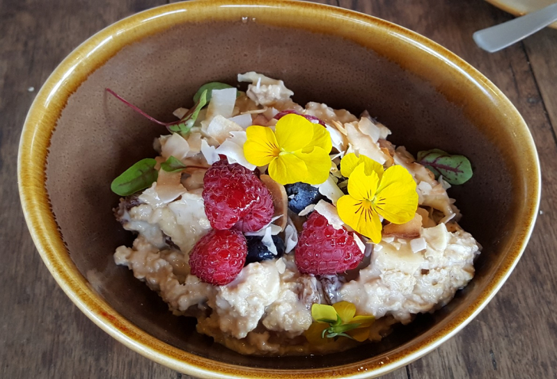 Bircher Muesli with Flowers