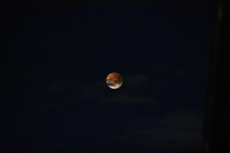 Blood Moon in Cloudy Sky