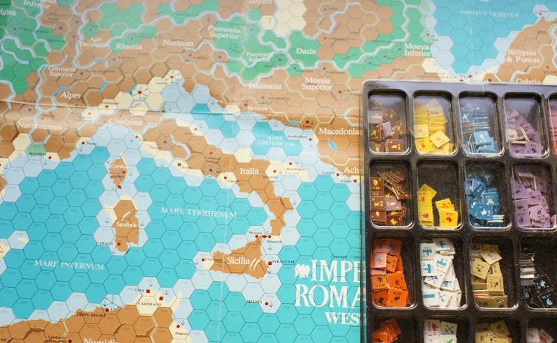 Imperium Romanum II map and counters
