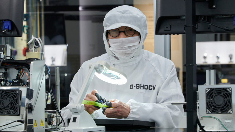 G-shock watches laboratory