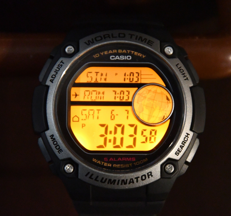 Casio AE300W Illuminated lowres