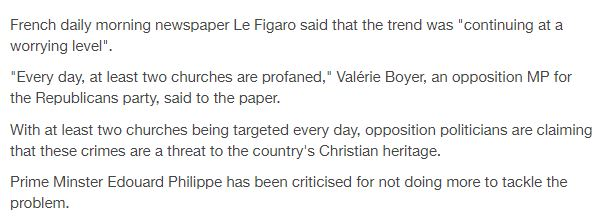 France Churches profaned