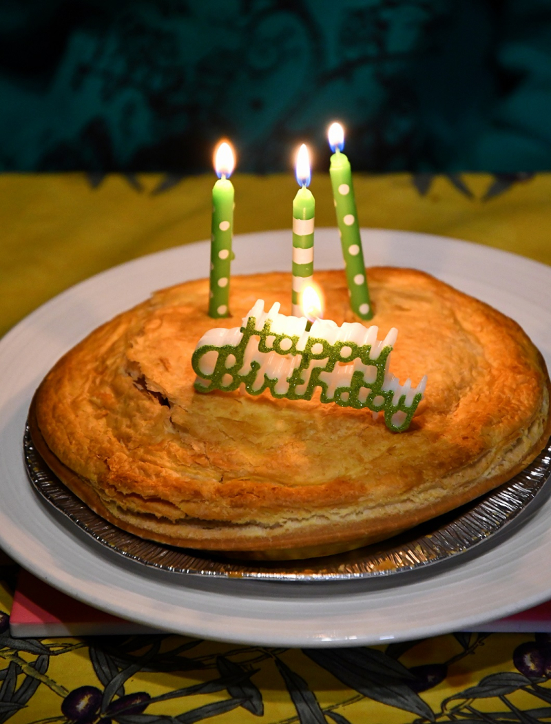 Birthday Meat Pie red