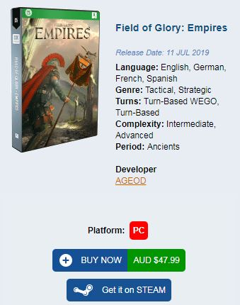 Buy Field of Glory Empires