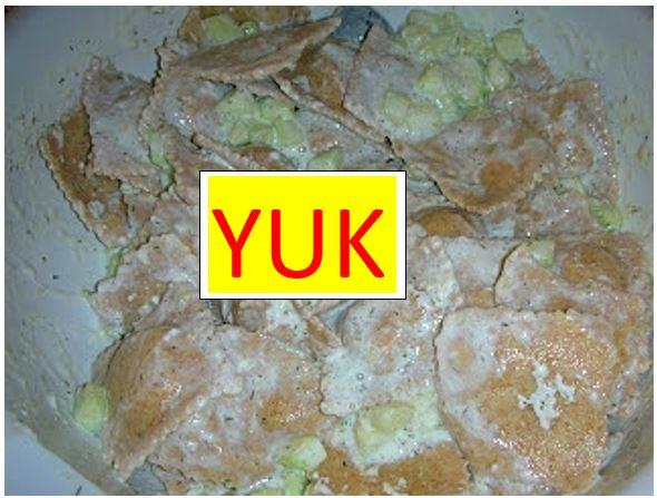 Cucumber Sauce Ravioli Yuk