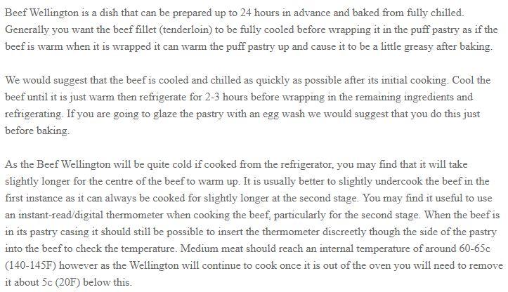 Beef Wellington Pre-Cooked