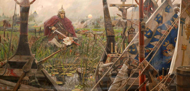 Ryzhenkov_pavel_viktorovich_17_triptych_the_sun_of_the_russian_land_battle_of_the_neva_2008_2009