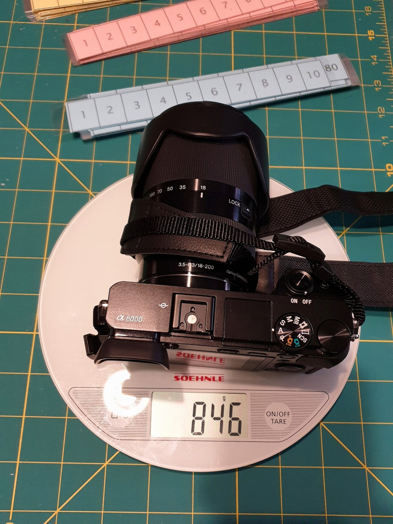 Sony A6000 18-200 Lens Weight