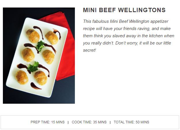 Mini Beef Wellingtons Quick Cook